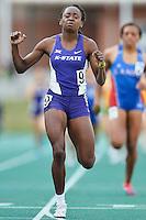 Sonia Gaskin of Kansas State wins 800 Meter final during Baylor Invitational track meet, Friday, April 03, 2015 in Waco, Tex. (Mo Khursheed/TFV Media via AP Images)