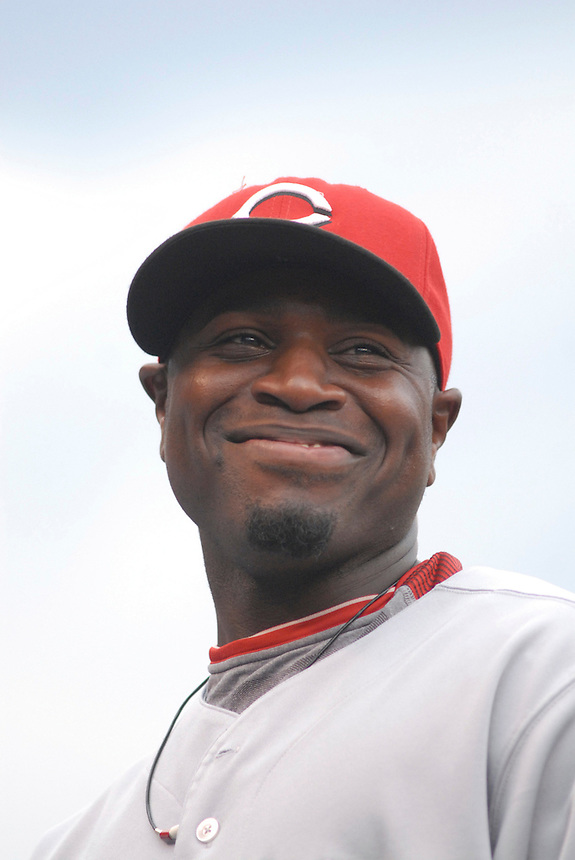 23 August 08: Cincinnati Reds 2nd baseman Brandon Phillips prior to a game against the Colorado Rockies. The Colorado Rockies defeated the Cincinnati Reds 7-6 at Coors Field in Denver, Colorado..