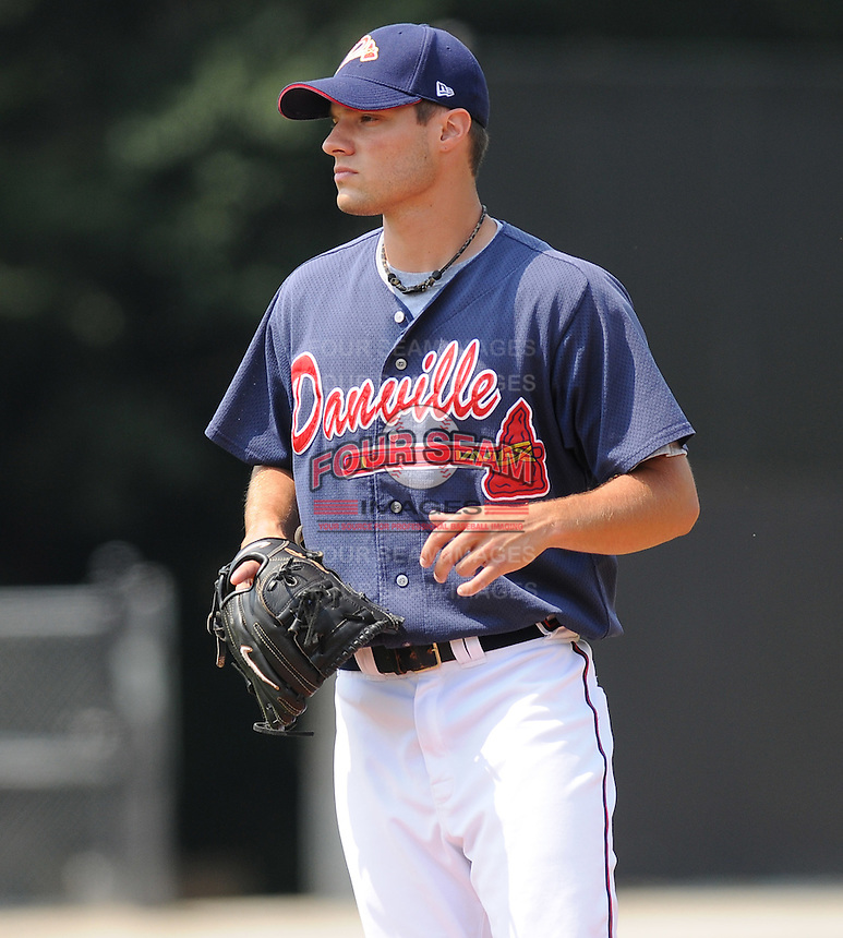 July 15, 2009: LHP Dennis Accomando (20) of the Danville Braves, rookie Appalachian League affiliate of the Atlanta Braves, before a game at Dan Daniel Memorial Park in Danville, Va. Photo by:  Tom Priddy/Four Seam Images