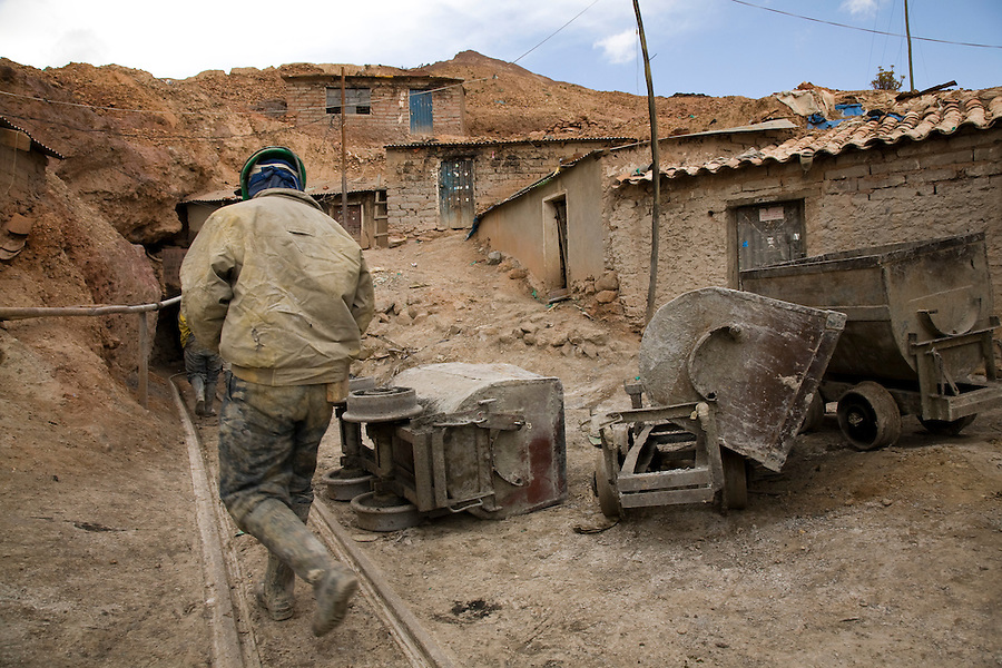 "A miner entering ""La Negra"" mine in Potosí, Bolivia."