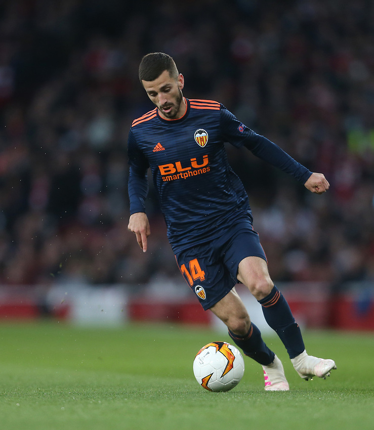 José Luis Gayà of Valencia<br /> <br /> Photographer Rob Newell/CameraSport<br /> <br /> UEFA Europa League Semi-final 1st Leg - Arsenal v Valencia - Thursday 2nd May 2019 - The Emirates - London<br />  <br /> World Copyright © 2018 CameraSport. All rights reserved. 43 Linden Ave. Countesthorpe. Leicester. England. LE8 5PG - Tel: +44 (0) 116 277 4147 - admin@camerasport.com - www.camerasport.com
