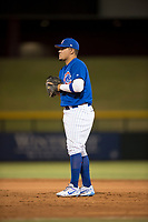 AZL Cubs 1 first baseman Luis Hidalgo (17) during an Arizona League game against the AZL Diamondbacks at Sloan Park on June 18, 2018 in Mesa, Arizona. AZL Diamondbacks defeated AZL Cubs 1 7-0. (Zachary Lucy/Four Seam Images)