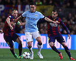 11.03.2015 Barcelona.UEFA champions League. Rounf 0f 16 2nd leg. Picture show Samir Nasri durring game between FC Barcelona against Manchester city at Camp Nou