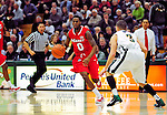 12 December 2010: Marist College Red Foxes' guard Devin Price, a Sophomore from Inglewood, CA, in action against the University of Vermont Catamounts at Patrick Gymnasium in Burlington, Vermont. The Catamounts (7-2) defeated the Red Foxes 75-67 notching their 7th win of the season, and their best start since the '63-'64 season. Mandatory Credit: Ed Wolfstein Photo