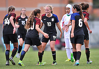 Monfalcone, Italy, April 26, 2016.<br /> USA's players celebrating the goal of 4-0 during USA v Iran football match at Gradisca Tournament of Nations (women's tournament). Monfalcone's stadium.<br /> © ph Simone Ferraro / Isiphotos