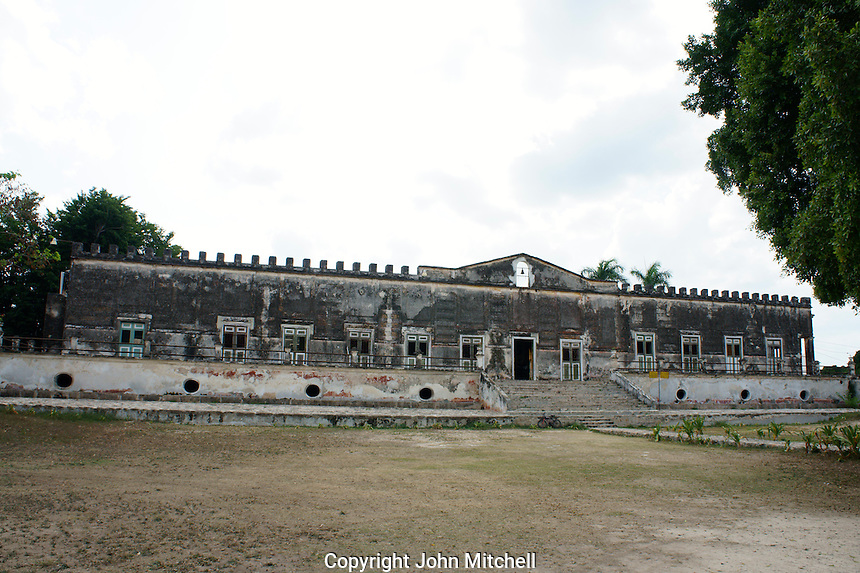 Main building at Hacienda Yaxcopoil, Yucatan, Mexico.