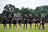 Bath players look on. Bath Rugby pre-season training session on July 18, 2014 at Farleigh House in Bath, England. Photo by: Patrick Khachfe/Onside Images