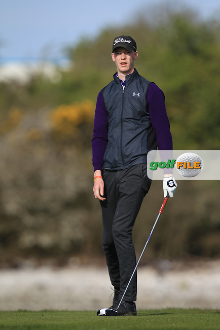 Evan Farrell (Ardee) on the 4th tee during Round 1 of the Munster Stroke Play Championship at Cork Golf Club on Saturday 30th April 2016.<br /> Picture:  Thos Caffrey / www.golffile.ie