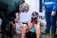 an emotional Annemarie Worst (NED) after 'losing' the World Title by finishing 2nd in a sprint to the finish<br /> <br /> Women's Elite Race<br /> UCI 2020 Cyclocross World Championships<br /> Dübendorf / Switzerland<br /> <br /> ©kramon