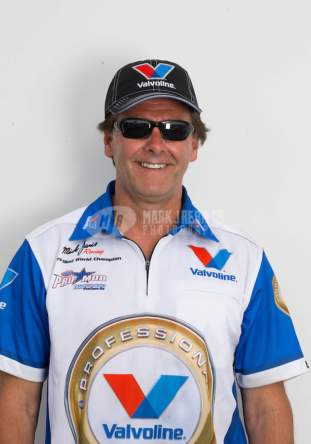 Jun. 2, 2013; Englishtown, NJ, USA: Portrait of a crew member for NHRA pro mod driver Mike Janis during the Summer Nationals at Raceway Park. Mandatory Credit: Mark J. Rebilas-