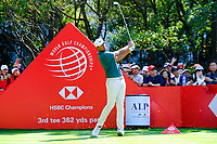 Tony Finau (USA) on the 3rd tee during the final round at the WGC HSBC Champions 2018, Sheshan Golf CLub, Shanghai, China. 28/10/2018.<br /> Picture Fran Caffrey / Golffile.ie<br /> <br /> All photo usage must carry mandatory copyright credit (&copy; Golffile | Fran Caffrey)