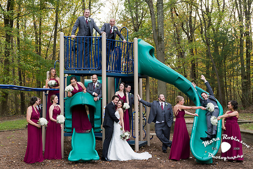 bridal party by Youngstown wedding photographer Mara Robinson Photography