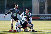 Lewis Jones of Ealing Trailfinders  in action during the Championship Cup Quarter Final match between Ealing Trailfinders and Nottingham Rugby at Castle Bar , West Ealing , England  on 2 February 2019. Photo by Carlton Myrie / PRiME Media Images.