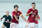 Guangzhou Midfielder Zheng Zhi (L) gestures during the AFC Champions League 2017 Round of 16 match between Guangzhou Evergrande FC (CHN) vs Kashima Antlers (JPN) at the Tianhe Stadium on 23 May 2017 in Guangzhou, China. (Photo by Power Sport Images/Getty Images)