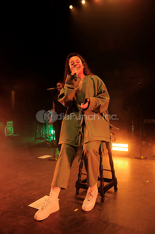 LONDON, ENGLAND - JANUARY 10: Ella Mai performing at Shepherd's Bush Empire on January 10, 2019 in London, England.<br /> CAP/MAR<br /> ©MAR/Capital Pictures /MediaPunch ***NORTH AND SOUTH AMERICAS ONLY***