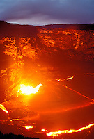 Lava flow from Kilauea, the worlds most active  volcano