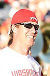 "Former Washington State quarterback, and ""Cougar Legend"", Ryan Leaf, watches the Cougars non-conference home-opener with Montana State at Martin Stadium in Pullman, Washington, on September 11, 2010.  WSU came back in dramatic fashion to win the game, 23-22."