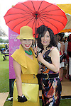 Pictured enjoying the summer fayre on the Ross Hotel / Lane Bar Champagne &amp; Cocktail Marquee at Killarney Races ladies Day on Thursday were from left, Jae Tourish and Ima Dolan from Killarney.<br /> Picture by Don MacMonagle<br /> <br /> <br /> PR Photo from Ross Hotel