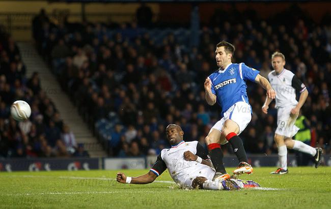 Carlos Bocanegra scores for Rangers
