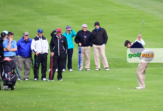 Rory O'Gorman (Laytown &amp; Bettystown) on the 19th in the Junior Cup during the AIG Cups &amp; Shields Finals in Royal Tara Golf Club on Wednesday 18th September 2013.<br /> Picture:  Thos Caffrey / www.golffile.ie