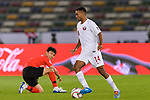 Salem Al Hajri of Qatar (R) in action during the AFC Asian Cup UAE 2019 Quarter Finals match between Qatar (QAT) and South Korea (KOR) at Zayed Sports City Stadium  on 25 January 2019 in Abu Dhabi, United Arab Emirates. Photo by Marcio Rodrigo Machado / Power Sport Images