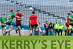 Danny O'Sullivan Glenbeigh Glencar in action against Tomas Bloomer Rock Saint Patricks in the Junior Football All Ireland Final in Croke Park on Sunday.