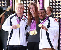 August 17, 2012 Jake Varner, Allison Schmitt, Jordan Burrough  Olympic medalists  visit the  NBC's Today Show  at Rockefeller Center in New York City.Credit:© RW/MediaPunch Inc. /NortePhoto.com<br />