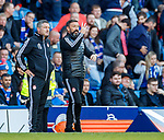 28.09.2018 Rangers v Aberdeen: Tony Docherty and Derek McInnes
