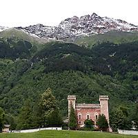 Castelmur a Stampa in Val Bregaglia..Castelmur at Stampa in Val Bregaglia