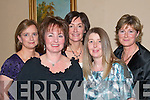 SMILE: Taking time for a photo while celebrating Women's Christmas in the Listowel Arms Hotel on Sunday night were Breda Galvin, Mary Catherine Brady, Brenda Pierse, Noelle Watts, Listowel, and Ann O'Donnell, Ballydonoghue.   Copyright Kerry's Eye 2008