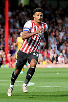 Ollie Watkins of Brentford during Brentford vs Wigan Athletic, Sky Bet EFL Championship Football at Griffin Park on 15th September 2018