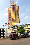 High rise apartment building in city centre of Colombo, Sri Lanka, Asia