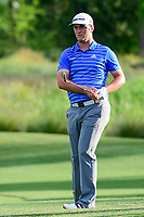Jon Rahm (ESP) watches his approach shot on 10  during round 1 of the Shell Houston Open, Golf Club of Houston, Houston, Texas, USA. 3/30/2017.<br /> Picture: Golffile | Ken Murray<br /> <br /> <br /> All photo usage must carry mandatory copyright credit (&copy; Golffile | Ken Murray)