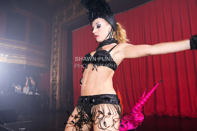 Dancer performs at Webster Hall night club on 125 East 11th Street, August 13, 2011.
