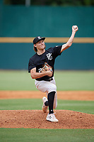 William Kohn (23) of Chilton County High School in Verbena, AL during the Perfect Game National Showcase at Hoover Metropolitan Stadium on June 17, 2020 in Hoover, Alabama. (Mike Janes/Four Seam Images)