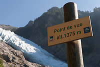 Point de Vue at 1375 metres altitude for the Bossons glacier, September 2007