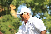 1985 Captain Lee Trevino (USA) on the 1st tee for the Captains/Celebrity scramble exhibition during Monday's Practice Day of the 39th Ryder Cup at Medinah Country Club, Chicago, Illinois 25th September 2012 (Photo Eoin Clarke/www.golffile.ie)