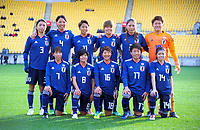 The Japan starting XI for the international women's football match between the New Zealand Football Ferns and Japan at Westpac Stadium in Wellington, New Zealand on Sunday, 10 May 2018. Photo: Dave Lintott / lintottphoto.co.nz