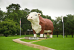 Albert the Bull road-side attraction in Audubon, Iowa