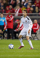 13 April 2011: Los Angeles Galaxy forward Mike Magee #18 in action during an MLS game between Los Angeles Galaxy and the Toronto FC at BMO Field in Toronto, Ontario Canada..The game ended in a 0-0 draw.