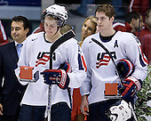 Colin Wilson (USA - 33), Chris Summers (USA - 16) - Team Russia defeated Team USA 4-2 on Saturday, January 5, 2008, at CEZ Arena in Pardubice, Czech Republic, to win the bronze at the 2008 World Juniors Championship.
