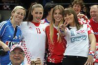 25.01.2013 Barcelona, Spain. IHF men's world championship, 3º/4º place. Picture show croatian fans during game between Slovenia vs Croatia at Palau St. Jordi