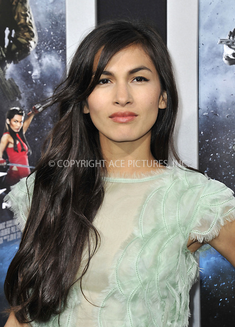 WWW.ACEPIXS.COM....March 28 2013, LA....Elodie Yung arriving at the 'G.I. Joe: Retaliation' Los Angeles premiere at the TCL Chinese Theatre on March 28, 2013 in Hollywood, California.......By Line: Peter West/ACE Pictures......ACE Pictures, Inc...tel: 646 769 0430..Email: info@acepixs.com..www.acepixs.com