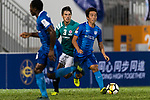 SC Kitchee Midfielder Ka Wai Lam (R) in action during the Community Cup match between Kitchee and Eastern Long Lions at Mong Kok Stadium on September 23, 2017 in Hong Kong, China. Photo by Marcio Rodrigo Machado / Power Sport Images
