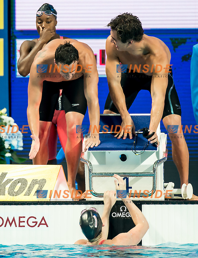 USA 4x100 frestyle mixed relay<br /> Swimming Nuoto Kazan Arena<br /> Day15 08/08/2015  FINALS<br /> XVI FINA World Championships Aquatics <br /> Kazan Tatarstan RUS July 24 - Aug. 9 2015 <br /> Photo G.Scala/Deepbluemedia/Insidefoto