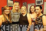 Staff members from Pallas Foods who held their annual sales conference last Friday night in The Devonn Inn, Templeglantine. l-r, Caroline Shiels(Newcastlewest), Linda Roche (Killeedy), Avril Sheahy (Foynes), Lorraine Carroll (Listowel) and ann Marie Roche (Templeglantine).