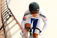 Picture by Alex Whitehead/SWpix.com - 09/12/2017 - Cycling - UCI Track Cycling World Cup Santiago - Velódromo de Peñalolén, Santiago, Chile - Republic of Korea's Hyejin Lee competes in the Women's Sprint qualifying.