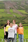 On hand to see the rare phenomena of a landslide were the Dineen children, Darren, Shauna, and Mairead and centre back, their friend Ciara Cox from Inch, Annascaul...