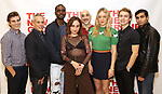 Daniel Sovich, Josh Pais, Moise Morancy, Sadie Scott, Seth Zvi Rosenfeld, Chloe Sevigny, David Levi, Cristian DeMeo attend the cast photo call for the New Group Production on 'Downtown Race Riot' on October 23, 2017 at The New 42nd Street Studios in New York City.