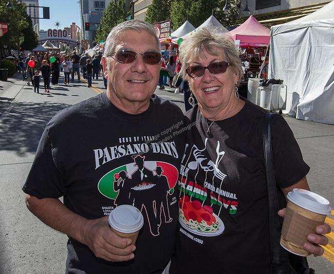 Jim & Rose Nobili from Reddig attend the 35th Annual Eldorado Great Italian Festival held in downtown Reno on Saturday, October 8, 2016.